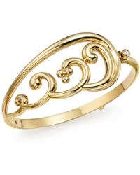 Temple St. Clair - 18k Yellow Gold Diamond Wing Bangle - Lyst