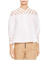 Sandro - Juda Lace-inset Top - Lyst