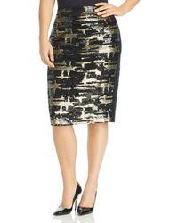 Marina Rinaldi - Canarino Sequined Pencil Skirt - Lyst