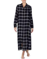 Donna Karan - Plaid Long Sleepshirt - Lyst