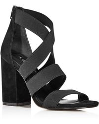 Aqua - Women's Frenz Strappy Block Heel Sandals - Lyst