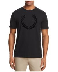 Fred Perry - Laurel Wreath Crewneck Short Sleeve Tee - Lyst