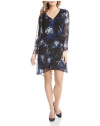 Karen Kane - Printed Flare-sleeve Dress - Lyst