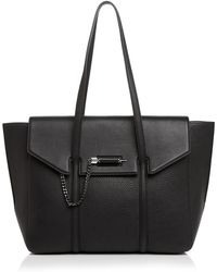 Mackage - Barton Flap Leather Tote - Lyst