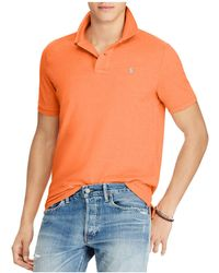 Polo Ralph Lauren | Cotton Mesh Custom Slim Fit Polo Shirt | Lyst