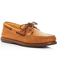 Sperry Top-Sider | Men's Gold Authentic Original Two Eye Leather Boat Shoes | Lyst