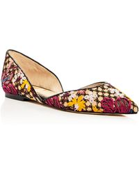 Sam Edelman - Women's Rodney Floral-embroidered D'orsay Flats - Lyst