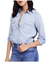 Free People - Bandana Bandit Chambray Shirt - Lyst