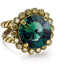 Sorrelli - Haute Halo Adjustable Cocktail Ring - Lyst