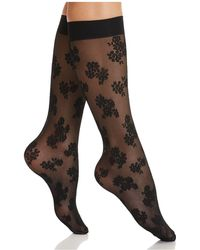 Hue - Floral Knee-high Socks - Lyst