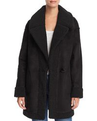 Aqua - Reversible Faux Shearling Coat - Lyst
