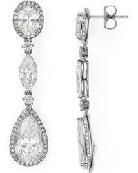 Nadri - Oval Drop Earrings - Lyst