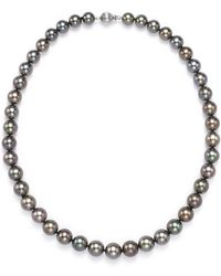 Tara Pearls - Natural Colour Tahitian Cultured Pearl Strand Necklace - Lyst