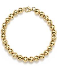 Bloomingdale's - 14k Yellow Gold Beaded Bracelet - Lyst