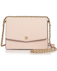 0f265e8fea40 Tory Burch - Robinson Convertible Leather Shoulder Bag - Lyst