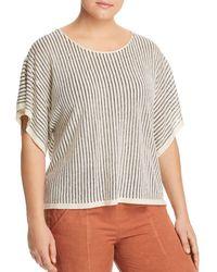 Eileen Fisher - Dolman Sleeve Stripe Top - Lyst