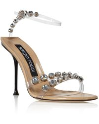 afdc4fbc69c Lyst - Sergio Rossi Strappy Sandals - Puzzle High Heel in Natural