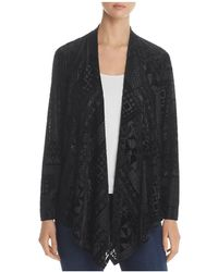 Status By Chenault - Geo Velvet Burnout Cardigan - Lyst
