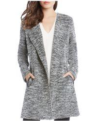 Karen Kane - Chevron Tweed Jacket - Lyst