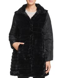 Via Spiga - Reversible Faux Fur Coat - Lyst