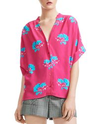Maje - Clowers Floral-print Top - Lyst