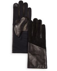 Echo - Leather Detail Tech Gloves - Lyst