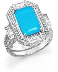 Judith Ripka - Sterling Silver Doublet Baguette Ring - Lyst