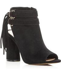 Vince Camuto - Women's Catinca Nubuck Leather High Heel Booties - Lyst