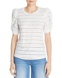Generation Love - Zoey Puff - Sleeve Pointelle Top - Lyst