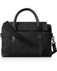 Shinola - Nubuck Leather Briefcase - Lyst