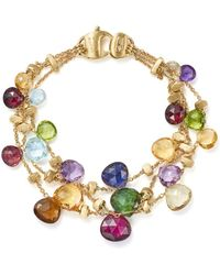 Marco Bicego - 18k Yellow Gold Paradise Three Strand Gemstone Bracelet - Lyst