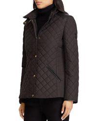 Ralph Lauren - Lauren Faux Leather Tab Quilted Jacket - Lyst