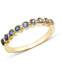 Shebee - 14k Yellow Gold Ombré Blue Sapphire Band - Lyst