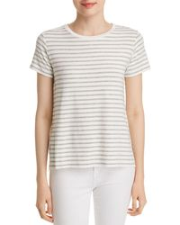 Majestic Filatures - Striped Crewneck Short-sleeve Tee - Lyst