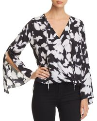 Kenneth Cole - Bell-sleeve Wrap Top - Lyst