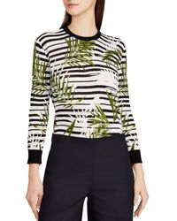 Ralph Lauren - Lauren Palm & Stripe Top - Lyst