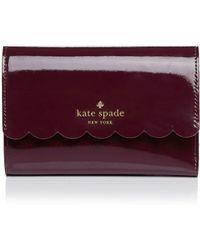 Kate Spade - Lily Avenue Patent Kieran Wallet - Lyst