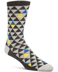 Cole Haan - Triangle-print Socks - Lyst