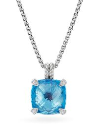 David Yurman - Châtelaine Pendant Necklace With Blue Topaz And Diamonds - Lyst