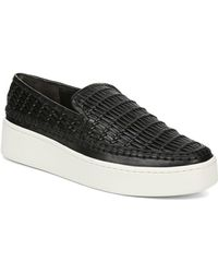 4c399454da1 Lyst - Vince Low-Top Calf Leather Sneaker in White