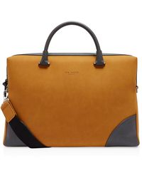 Ted Baker - Matcher Nubuck Document Bag - Lyst