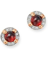 Pomellato - 18k Rose Gold M'ama Non M'ama Garnet & Diamond Stud Earrings - Lyst