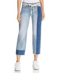 True Religion - Starr Crop Straight Jeans In Baseline Destroy - Lyst