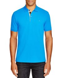 7be1dbf27 Lyst - Burberry Pique Polo in Blue for Men
