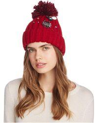 Bloomingdale's - Critter Embellished Pom Hat - Lyst