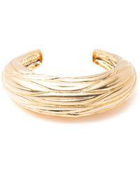 Trina Turk - Etched Leaf Cuff Bracelet - Lyst