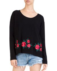 The Kooples - Embroidered Wool & Cashmere Sweater - Lyst