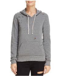 Alternative Apparel - Distressed Hooded Sweatshirt - Lyst