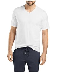 Hanro - Living Short Sleeve V-neck Tee - Lyst