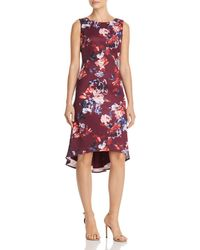 Adrianna Papell - Floral Scuba Dress - Lyst